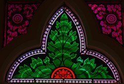 small stained glass window